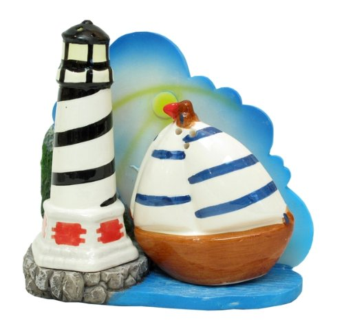 Lighthouse and Sailboat Salt & Pepper Set