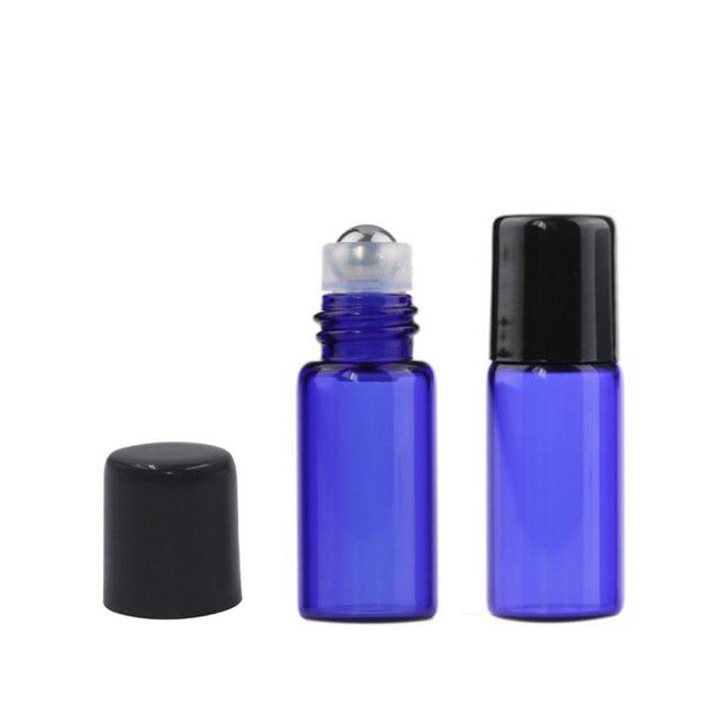 Set de 10 envases de color azul, rellenables y con un tamaño de 3 ml perfecto para viajar - perfume, desodorante, bálsamo labial, cosméticos: Amazon.es: ...