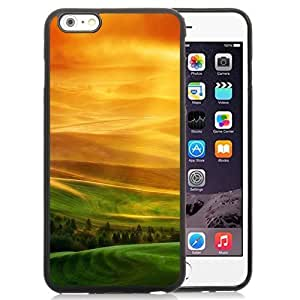 NEW Unique Custom Designed iPhone 6 Plus 5.5 Inch Phone Case With HTC One X Sunset Hills Lock Screen_Black Phone Case