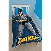 DC Comics Batman Childrens Official Shadow Reversible Duvet Cover (Twin Bed)