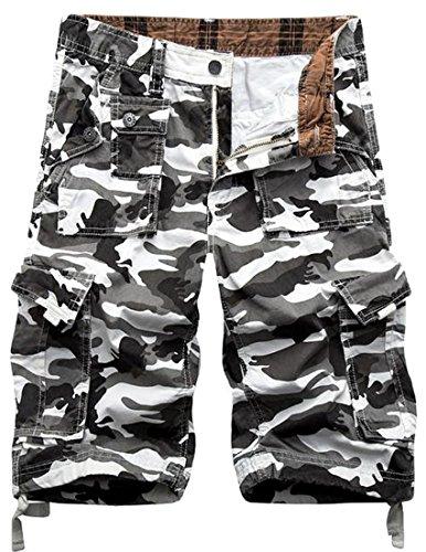 Generic Men's Camo Baggy Multi-pockets Utility Beach Cargo Shorts save more