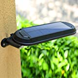 EnjoCho Solar Wall Light,White Light Waterproof Solar Power Motion Sensor Wall Mount LED Light Outdoor Garden Yard Lamp 2018 Hot Selling (Black)