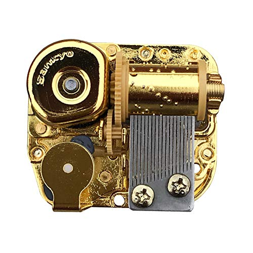 (Bankour Play (Can't Help Falling in Love) Golden Plated Wind up Sankyo Musical Movement for DIY Music)