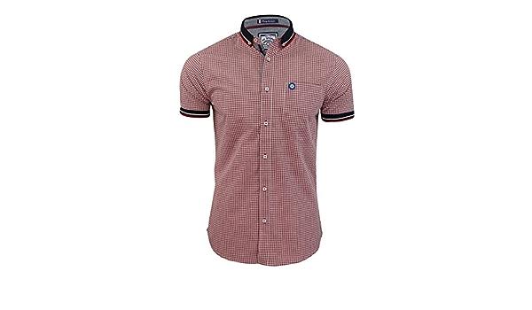 Le Shark - Camisa para Hombre, diseño de Cuadros Rojo Palo De ...