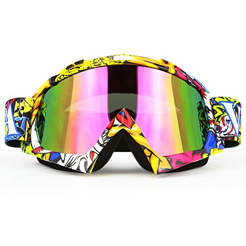 JAMIEWIN Professtional Adult Motorcycle Goggles Off Road Dirt Bike ATV Riding Motocross Mx Goggles Glasses for Men Women Youth ()