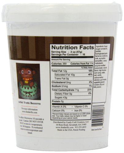 Fondarific Chocolate Fondant Brown, 2-Pounds by Fondarific (Image #5)'