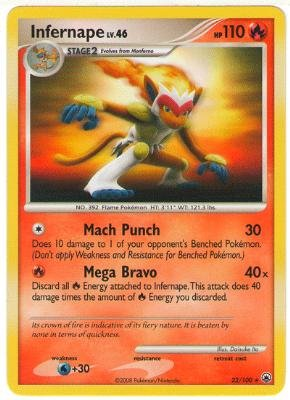 Pokemon Majestic Dawn #22 Infernape LV.46 Holofoil Card (Majestic Dawn Pokemon)