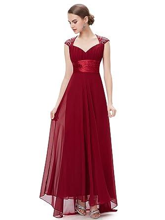 1fb2202f5d7 Ever-Pretty V-Col Maxi Robe de Soirée de Style Empire Sexy 42 Bordeux  EP09672BD10  Amazon.fr  Vêtements et accessoires