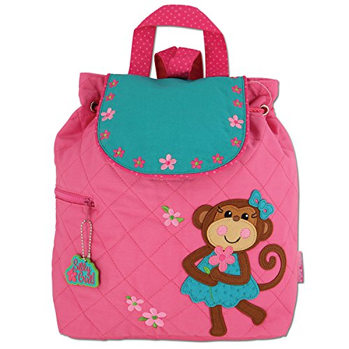 Stephen Joseph Girl Little Quilted Backpack, Monkey