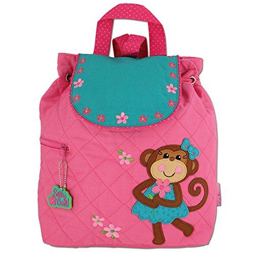 Monkey School Backpack - Stephen Joseph Girl Little Quilted Backpack, Monkey