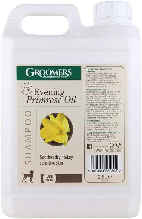 Groomers Evening Primrose Champú para Mascotas con nachtkerzenöl 2,5litros