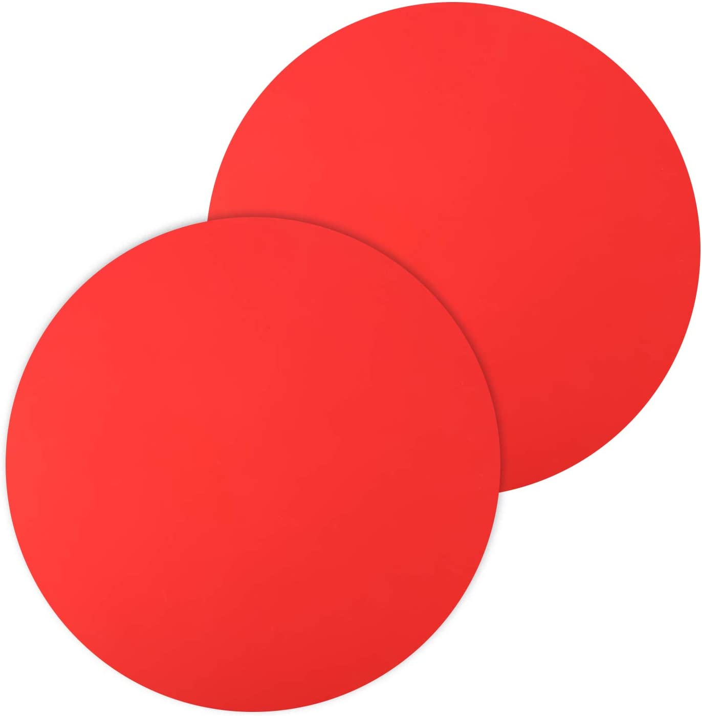 """12"""" Inch Silicone Microwave Multi-Mat, Non-Stick Heat Resistant Oven Mat Microwave Trivet Mat - 2 Pack (Red)"""