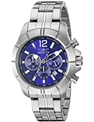 Invicta Mens 21464 Specialty Analog Display Japanese Quartz Silver Watch