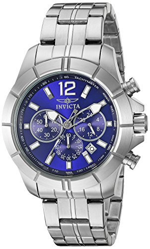 Invicta Men's 21464 Specialty Analog Display Japanese Quartz Silver Watch