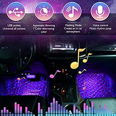 Star Sky 7 Colors Car Interior Lights with Multi-Mode Change: Automotive
