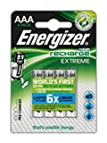 Energizer Extreme AAA Rechargeable Batteries - Pack of 4
