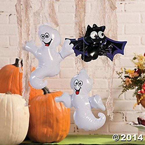 12 Inflatable Halloween Ghost and Bats Decoration ()