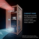 """AC Infinity AIRPLATE T8 PRO, Quiet Cooling Dual-Fan System 6"""" with Thermostat Control, for Home Theater AV Cabinets"""