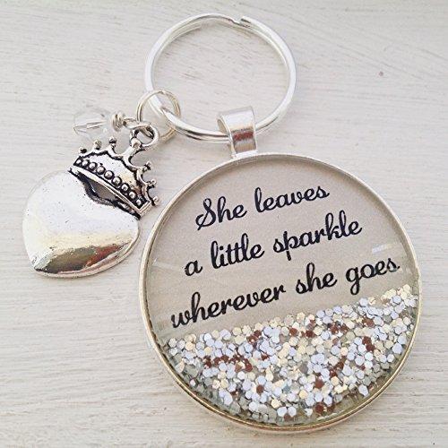 (Personalized sparkle keychain,