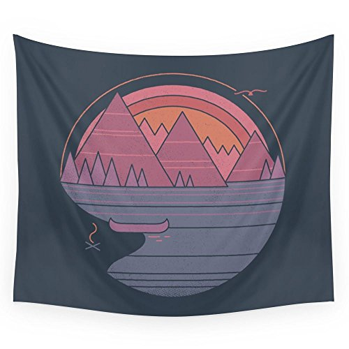 Society6 The Mountains Are Calling Wall Tapestry Small: 51