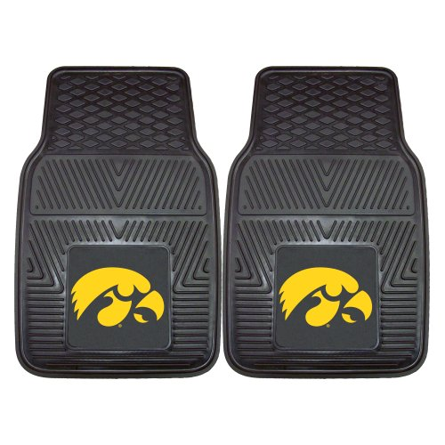 FANMATS NCAA University of Iowa Hawkeyes Vinyl Heavy Duty Car Mat