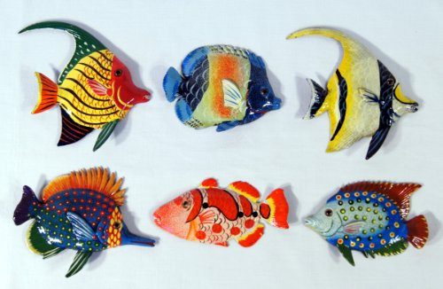 Wholesale Pack Handpainted Tropical Fish Magnet Assorted (Set Of 12)