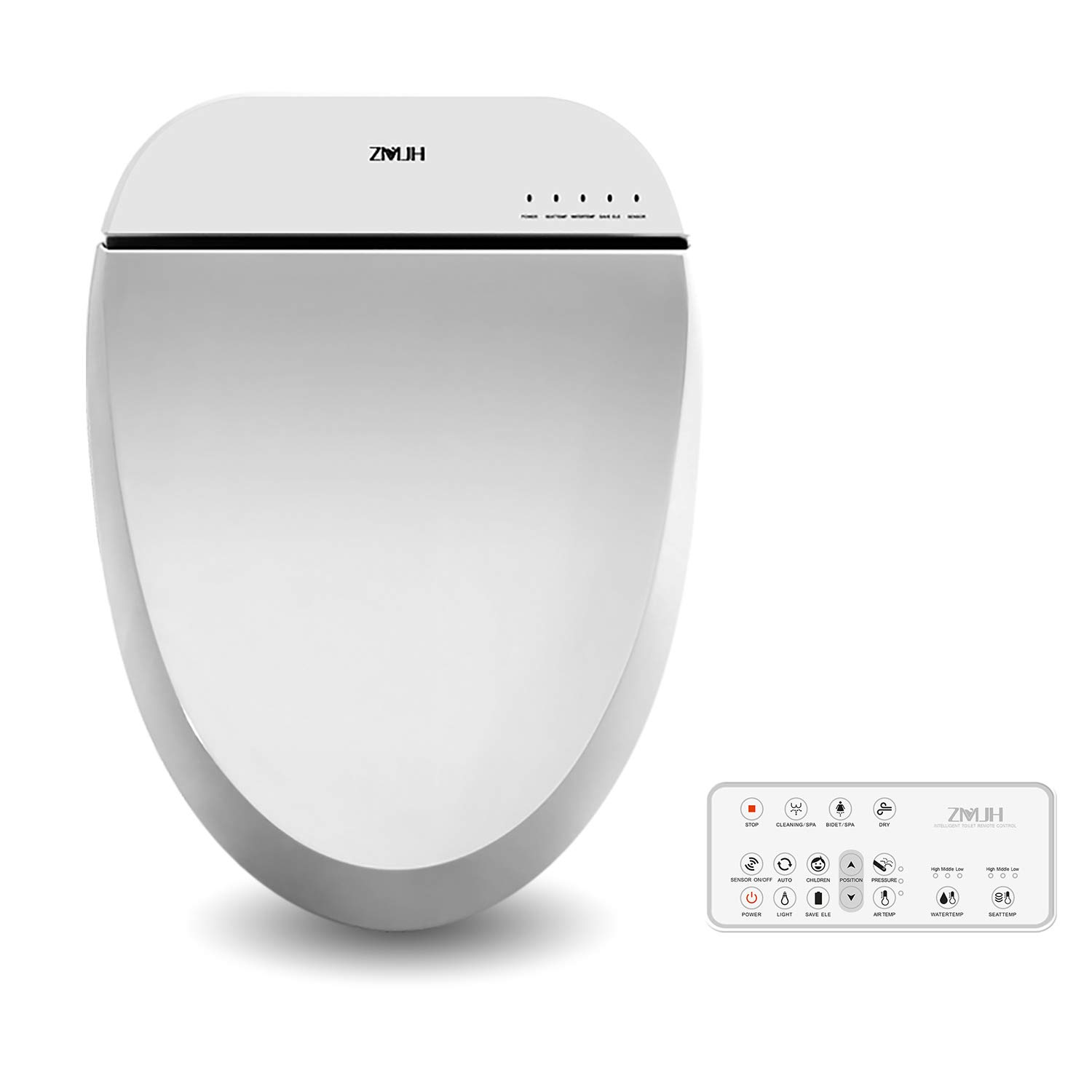 Zmjh Electronic Bidet Toilet Seat With Warm Water Air Drying
