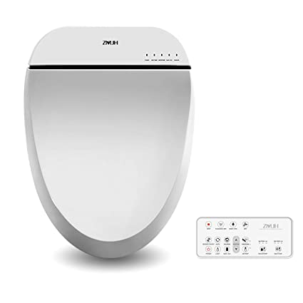 Stupendous Zmjh Electronic Bidet Toilet Seat With Warm Water Air Drying Function Feminine Wash Power Saving Bidet White Round Type Pabps2019 Chair Design Images Pabps2019Com