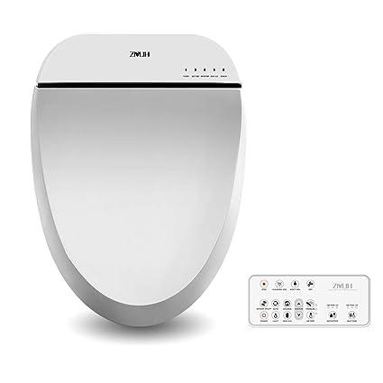 Pleasing Zmjh Electronic Bidet Toilet Seat With Warm Water Air Drying Function Feminine Wash Power Saving Bidet White Round Type Onthecornerstone Fun Painted Chair Ideas Images Onthecornerstoneorg
