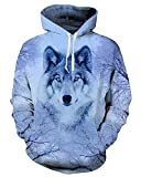 Chiclook Cool Hooded Animal Wolf Printed Hoodie Sweatshirt Harajuku Casual Coat