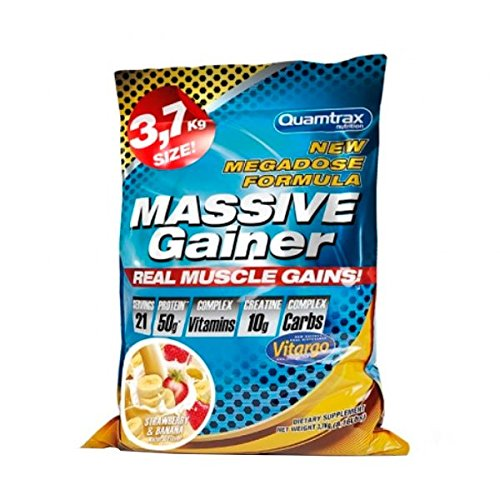 Quamtrax Nutrition Massive Gainer - 3,7 Kg Chocolate: Amazon.es: Alimentación y bebidas