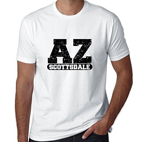 Hollywood Thread Scottsdale, Arizona AZ Classic City State Sign Men's T-Shirt ()
