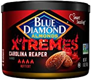Blue Diamond Almonds XTREMES Carolina Reaper Flavored Snack Nuts, 6 Oz Resealable Cans (Pack of 1)