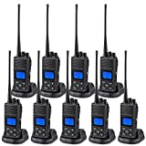 SAMCOM 2 Way Radio Long Range, FPCN30A 20 Channel Walkie Talkie Up to 5 Miles, Rechargeable Hand-held Business Radio for Outdoor Hiking Hunting Travel (Pack of 9)