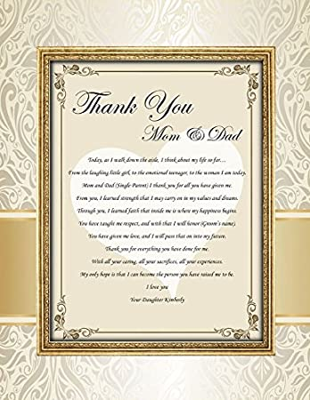 Amazon parents thank you poem mom and dad appreciation poetry parents thank you poem mom and dad appreciation poetry gift on wedding day present from daughter thecheapjerseys Image collections