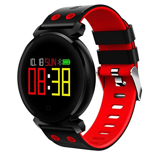 Price comparison product image SHL Waterproof Blue Tooth Smartwatch,  K2 Color Screen Heart Rate Blood Pressure Sport Fitness Tracker Smartwatch For IOS Android (Red)