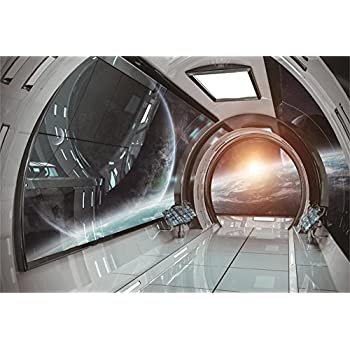 Beau Yeele Spacecraft Backdrops 7x5ft/2.2 X 1.5M Universe Space Earth Flight Spaceship  Interior Pictures Baby Adult Artistic Portrait Photoshoot Props ...