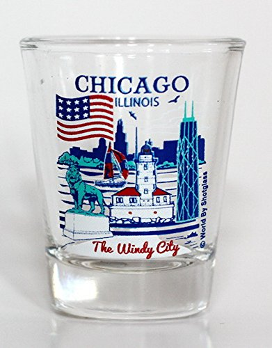 Chicago Illinois Great American Cities Collection Shot Glass