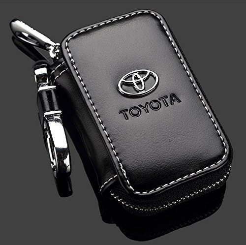 bearfire Leather Car Key Case Remote Control package Auto Key Chains (Toyota) (Ring Auto Leather Key)