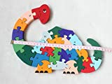 Animal From A To Z Alphabet Puzzle Wooden Toy ABC & 123 Puzzle Game Award Winning Educational Toy for Toddlers(Dinosaur)