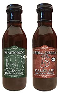 KC Natural - Paleo AIP Barbecue Sauce 14 oz, Combo Pack (Mastodon and Primal Cherry)
