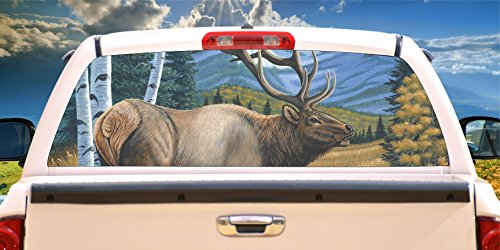 (Tire Cover Central Elk Caretaker Rear Window Mural, Decal, or Tint(Choose Size or Send Your own Measurements))