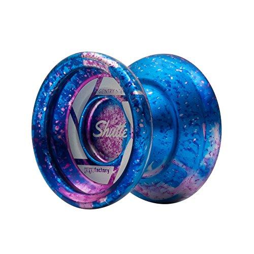 Galactic Acid Fade Shutter Yoyo by YoyoFactory Colors Blue and Pink Splash (Shutter Yoyo Yoyofactory)