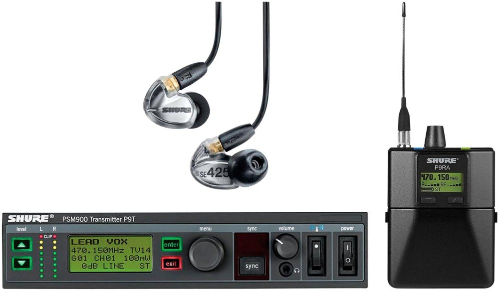 Shure P9TRA425CL - w/SE425CL G6 Band, 470-506MHz