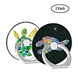 Finger Ring Stand 2 Pack - Stylish 360°Rotation Cell Phone Ring Holder Kickstand Compatible Compatible for iPhone X 8 7 6 Plus - Samsung Galaxy S8 S9 - Note iPad Moto Hoyuntphone ECT Turtle+Starry Turtles