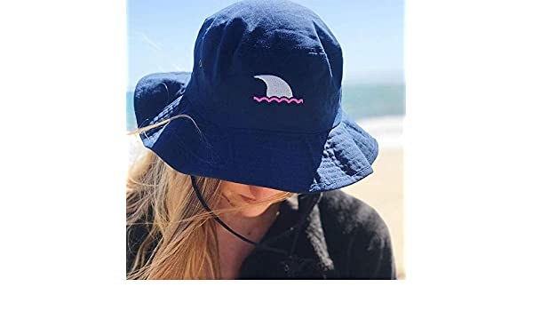 Amazon.com  UPF 50 Navy and Hot Pink Bucket Hat UPF 50 Navy and Ocean Blue  Bucket Hat Sun Protection for Boaters 75289ad9e315