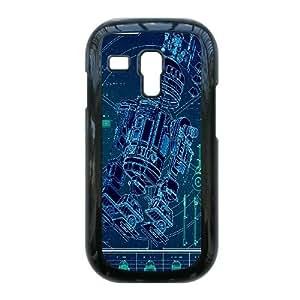 Samsung Galaxy S3 I8190 Mini funda [Material PC] Star Wars R2-D2 HD temático solamente para Samsung Galaxy S3 I8190 Mini [Color: Negro] LOJSGOSDL1789