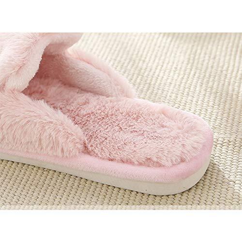 Morbido Indoor Westeng Invernale In Stile Donna Pantofole Coniglio Per Scarpe Cotone Adorabile Di Rosa 38 Antiscivolo 39 Caldo HqR0Xqp