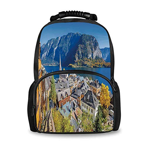 Fall Adorable School Bag,Historical Mountain Villa