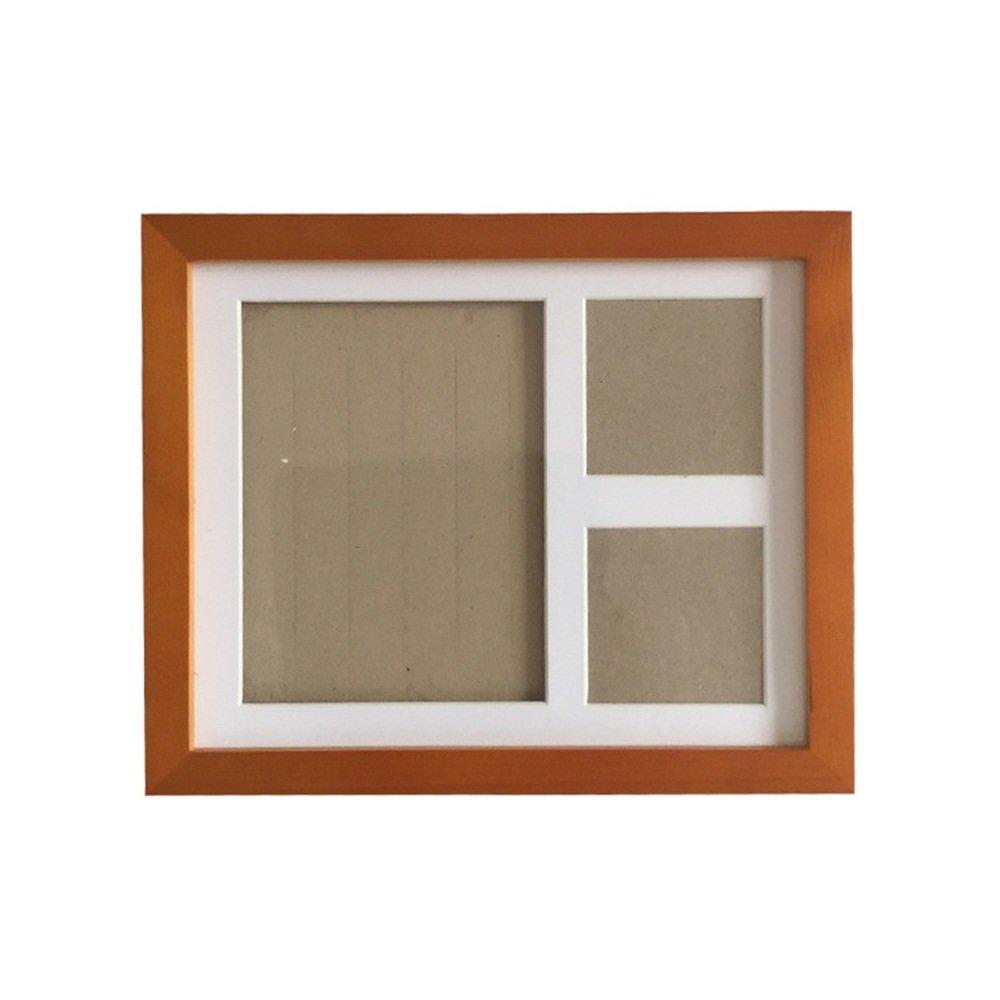 JIAN YA NA Babyprints Keepsake Handprint et empreinte photo Kit de cadre pour b/éb/é nouveau-n/é Album photo pour Registre de douche Noir